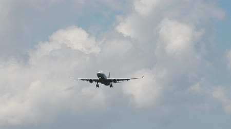 Aircraft approach and landing Stock Footage