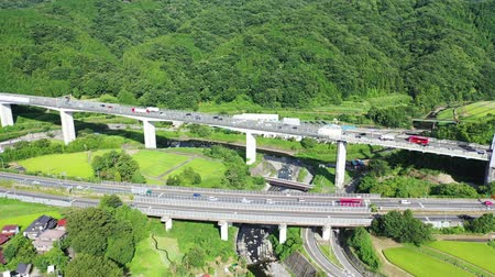 Traffic congestion on the Tomei Expressway
