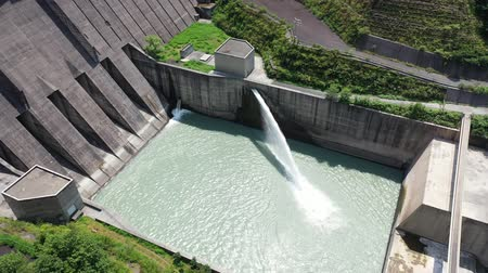 water cannon : Aerial view of Nagashima Dam