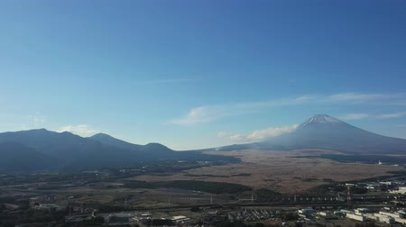 rural area : Mt. Fuji seen from the sky of Susono City