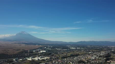 Mt. Fuji seen from the sky of Susono City