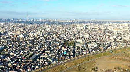 immobilien : Time-lapse-video over de rivier de Edogawa