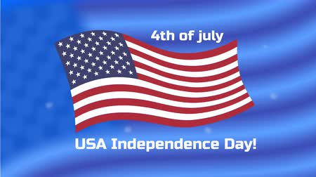 usa independence day : USA flag appearance and 4th of July greeting Stock Footage