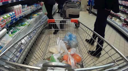 bakkal : trolley in a supermarket with goods time lapse