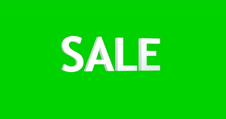 Sale 3D Text Animation render illustration chromakey