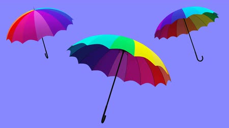 umbrella rotation animation 3d illustration render Stock mozgókép