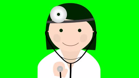 weterynarz : Doctor uniform with stethoscope loop animation Wideo