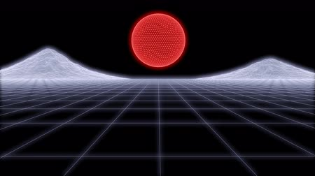 80s Retro Futurism Background Loop 3d render Stock mozgókép