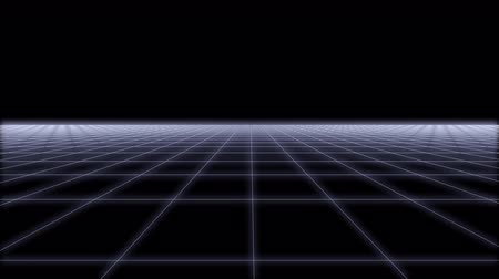 elektro : 80s Retro Futurism net Background Loop 3d render Stok Video