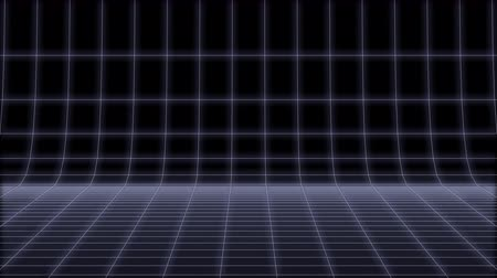 elektro : 80s Retro neon round net Background Loop 3d render
