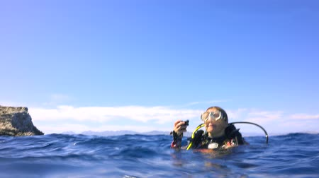 Fascinating underwater diving in the sea of Cortez. Mexico.