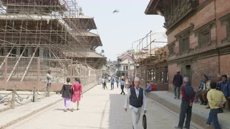 PATAN, NEPAL - MARCH, 2018: Square durbar in Patan, ancient city in Kathmandu Valley. Stock Footage