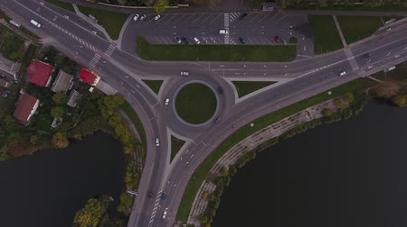 переулок : Round road from above