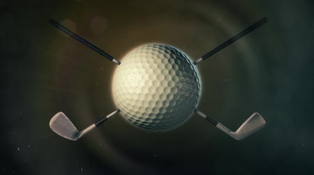 поле для гольфа : Golf Ball in Epic Lighting Стоковые видеозаписи