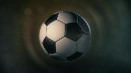 scoren : Voetbal in Epic Lighting Stockvideo