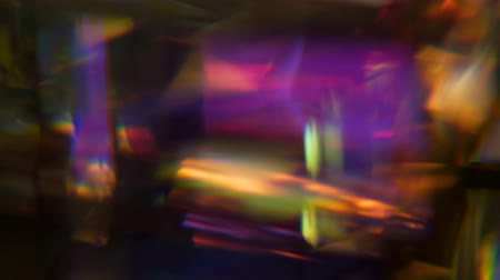 spectrum : rotating stained glass prism Stock Footage