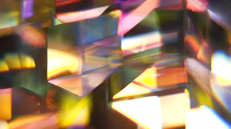spectrum : rotating stained glass shapes motion background Stock Footage