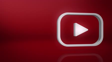 youtube : Youtube Icon Text Background Stock Footage