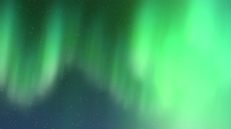Aurora Borealis Cool Blue Flythrough Motion Background Wideo