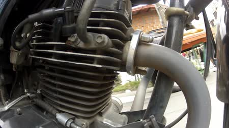 powerful : Motorcycle Engine Stock Footage