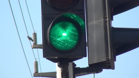 verkeersbord : Traffic-Light Stockvideo