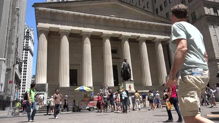 brique : Federal Hall à New York Vidéos Libres De Droits