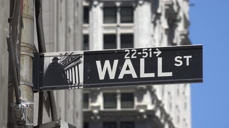 tache : Wall Street, finances, Manhattan, New York City Vidéos Libres De Droits