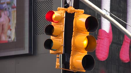 proceed : Traffic Lights, Street Lights, Signal Lights, Semaphores Stock Footage