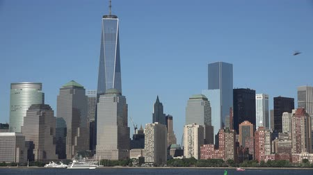 terrorismo : Freedom Tower, World Trade Center, WTC, 911, Manhattan Stock Footage