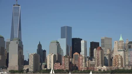 locatie : Freedom Tower, World Trade Center, WTC, 911, Manhattan Stockvideo