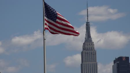 d day : American Flag, Empire State Building, New York City