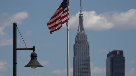 democrats : American Flag, Empire State Building, New York City