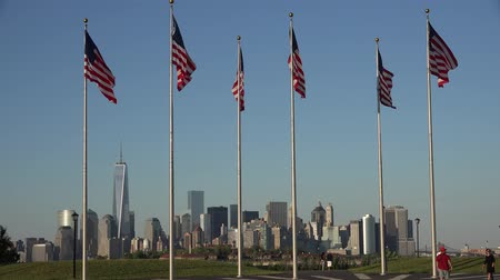 democrats : American Flags, United States, Office Buildings Stock Footage