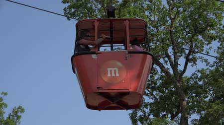 from air : Cable Cars, Mass Transit, Public Transportation Stock Footage