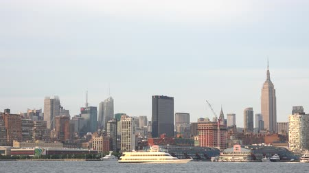 regional : Coastal City, Passenger Ferry, Empire State Building Stock Footage