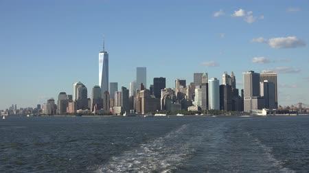 freedom tower : Freedom Tower, World Trade Center, WTC, 911, Manhattan Stock Footage