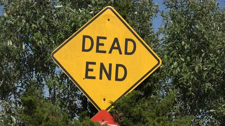morte : Dead End Street Sign Filmati Stock