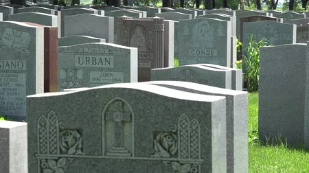 gravestone : Cemetary, Graveyards, Tombs, Tombstones, Death Stock Footage