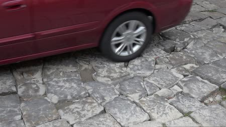 руины : Stone Roads, Brick, Granite Стоковые видеозаписи