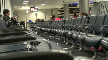 lounge : Airports, Terminals Stock Footage
