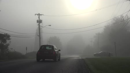 Cars, Fog, Smog, Air Pollution, Haze Stock Footage