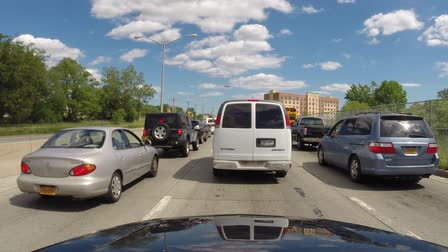 jam : Heavy Traffic, Traffic Jam, Cars, Automobiles, Trucks Stock Footage