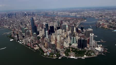 capital cities : New York City Aerial, Manhattan, Buildings Stock Footage