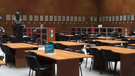 könyvtár : Study Hall, Library, Conference Area Stock mozgókép