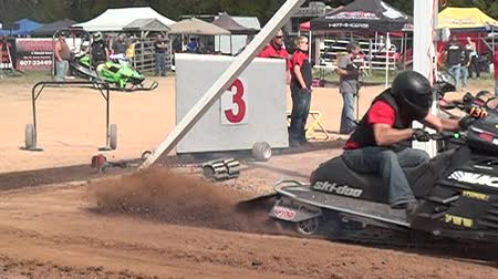 motorsports : Snowmobile Drag Racing, Drag Race, Race Stock Footage