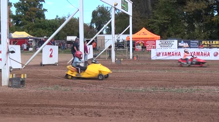 motorsports : Snowmobiles, Youth Sports, Motorsports Stock Footage