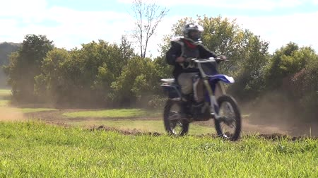 motorsports : Motorcycles, Motocross, Dirt Racing, Sports Stock Footage