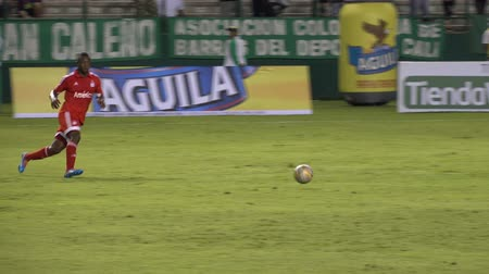 mls : Editorial: Colombian Soccer Game Stock Footage