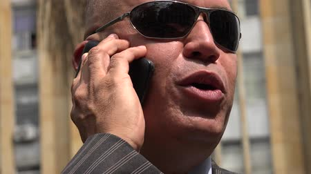 detectives : Man Talking on Cell Phone Stock Footage