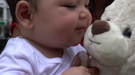 долл : Baby With Teddy Bear Infant Plush Toys